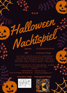 Halloween-Aktion der Messdiener Bigge am 31.10.2018