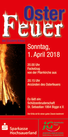 Osterfeuer am 1. April 2018 - kein Scherz... ;o)